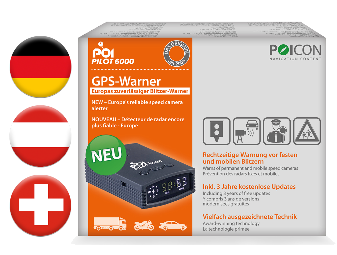 GPS-Warner POI Pilot 6000 DACH