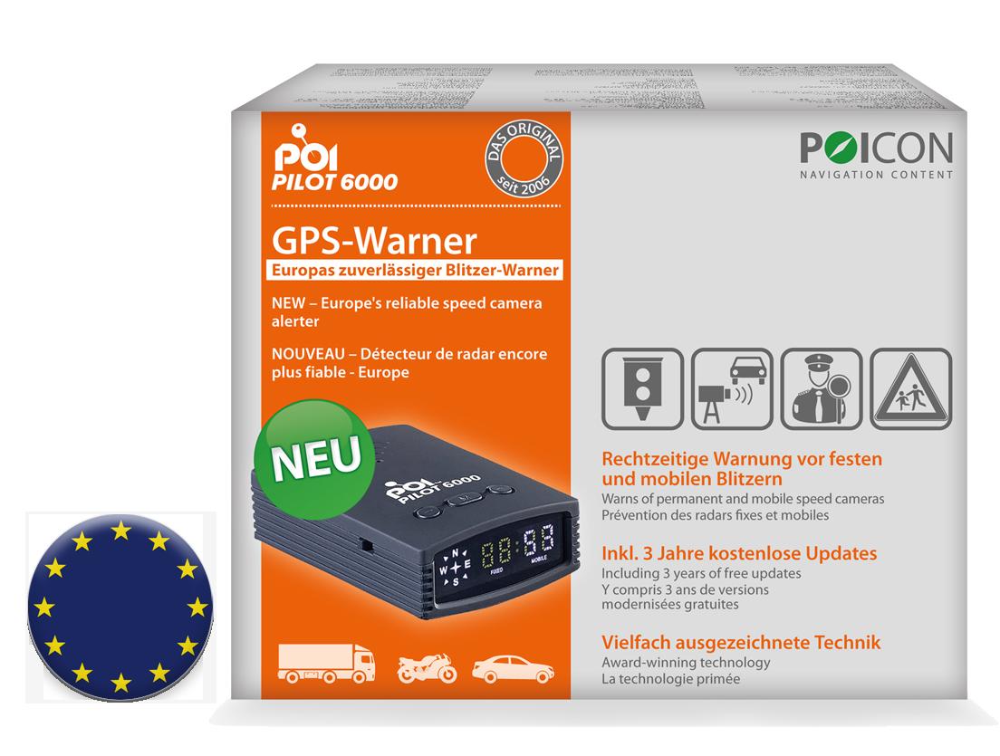 GPS-Warner POI Pilot 6000 Europa